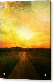 Sunset Road Acrylic Print by Brett Pfister
