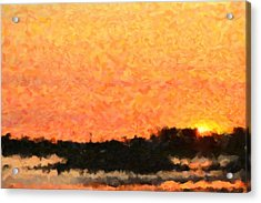 Sunset Acrylic Print by Toppart Sweden