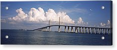 Suspension Bridge Across The Bay Acrylic Print by Panoramic Images