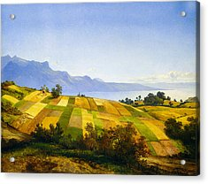 Swiss Landscape Acrylic Print by Alexandre Calame