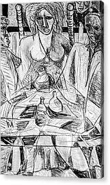 Table Talk Acrylic Print by Robert Daniels