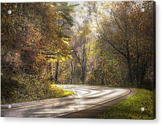 Take The Back Roads Acrylic Print by Debra and Dave Vanderlaan