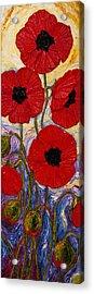 Tall Red Poppies Acrylic Print by Paris Wyatt Llanso