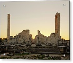 Temple Of Apollo Acrylic Print by David Parker