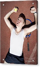 Tennis Triumph  Acrylic Print by Jorgo Photography - Wall Art Gallery