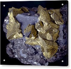 Tetrahedrite Acrylic Print by Science Photo Library