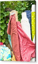 Textiles Sale Acrylic Print by Tom Gowanlock