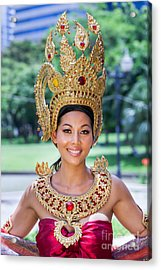 Thai Woman In Traditional Dress Acrylic Print by Fototrav Print