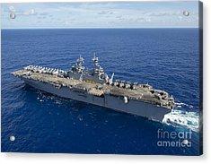 The Amphibious Assault Ship Uss Boxer Acrylic Print by Stocktrek Images