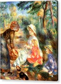 The Apple Seller Acrylic Print by Pierre-Auguste Renoir