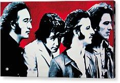 The Beatles Acrylic Print by Luis Ludzska