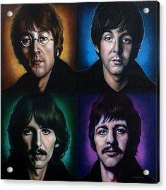 The Beatles Acrylic Print by Tim  Scoggins