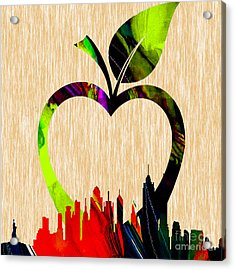 The Big Apple New York Skyline Acrylic Print by Marvin Blaine