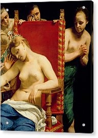 The Death Of Cleopatra  Acrylic Print by Guido Cagnacci