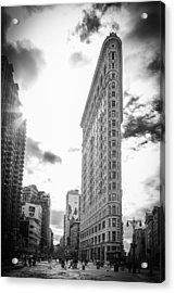 The Famous Flatiron Building - New York City Acrylic Print by Erin Cadigan