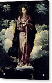 The Immaculate Conception Acrylic Print by Diego Rodriguez de Silva y Velazquez