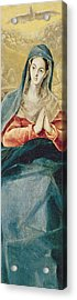 The Immaculate Conception  Acrylic Print by El Greco Domenico Theotocopuli