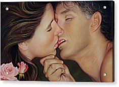 The Kiss Acrylic Print by Patrick Anthony Pierson