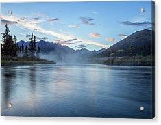 The Lapie River Flows Acrylic Print by Robert Postma