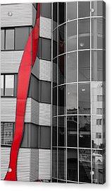 The Red Line Acrylic Print by Christine Czernin Morzin
