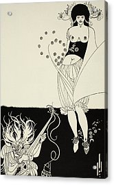The Stomach Dance Acrylic Print by Aubrey Beardsley