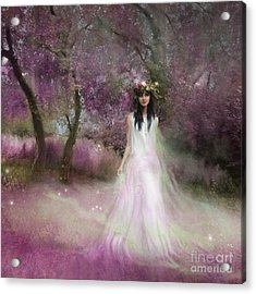 The Summer Fairy Acrylic Print by Angel  Tarantella