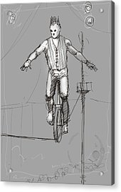The Unicyclist Acrylic Print by H James Hoff
