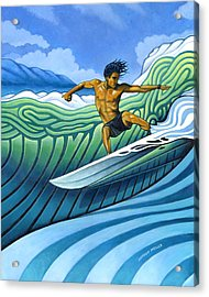 Tico Surfer Acrylic Print by Nathan Miller