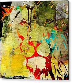 Lion Beauty And Strength Acrylic Print by Marvin Blaine