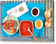 Tomatoes And Onions Acrylic Print by Tom Gowanlock