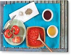 Tomatoes Acrylic Print by Tom Gowanlock