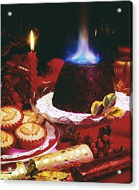 Traditional Christmas Dinner In Ireland Acrylic Print by The Irish Image Collection