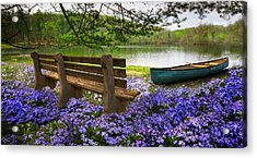 Tranquility Acrylic Print by Debra and Dave Vanderlaan
