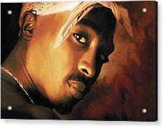 Tupac Shakur Acrylic Print by Sheraz A