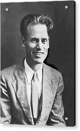 Tv Pioneer Philo Farnsworth Acrylic Print by Underwood Archives