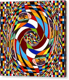 #1 Twisted Combination Acrylic Print by George Curington