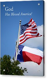 God Has Blessed America Acrylic Print by Connie Fox