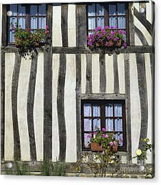 Typical House  Half-timbered In Normandy. France. Europe Acrylic Print by Bernard Jaubert