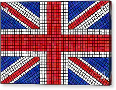 Union Jack Mosaic Acrylic Print by Jane Rix