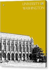 University Of Washington - Suzzallo Library - Gold Acrylic Print by DB Artist