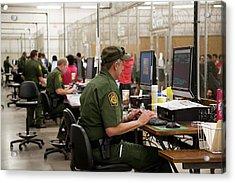 Usa Border Control Acrylic Print by Jim West