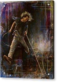 Vedder Acrylic Print by Josh Hertzenberg
