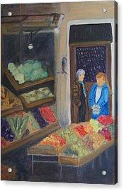 Venice Fruit Market Acrylic Print by Kristine Bogdanovich