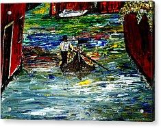 Venice Spring Acrylic Print by Mark Moore