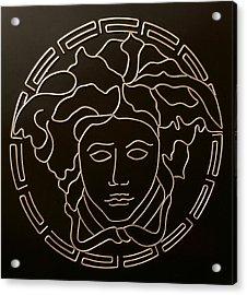 Versace Medusa Head Acrylic Print by Peter Virgancz