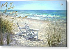 View For Two Acrylic Print by Laurie Hein