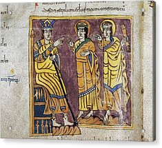 Vigilian Or Albelda Codex. 10th C Acrylic Print by Everett