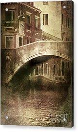 Vintage Shot Of Venetian Canal, Venice Acrylic Print by Evgeny Kuklev