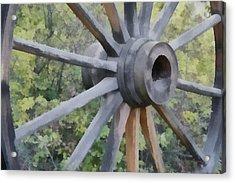 Wagon Wheel Acrylic Print by Ernie Echols