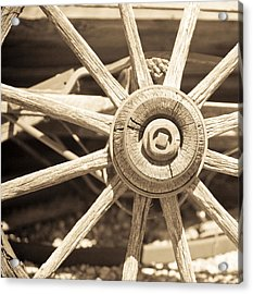 Wagon Wheel Acrylic Print by Gilbert Artiaga